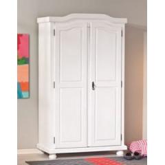 HEIDI Armoire blanche en pin deux portes
