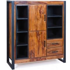 JAIPUR meuble bois et métal noir