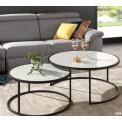 Table  Basse VEGA Verre et acier chromé