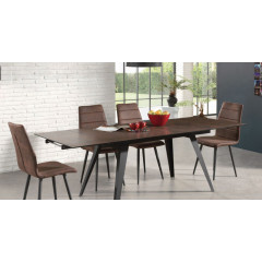 TOKAI 2 table de diner rectangulaire rouille