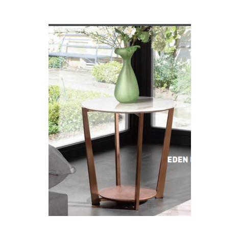 Table  Basse NEO Verre et acier chromé brossé