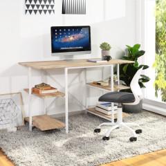 MICKAEL bureau chêne et blanc