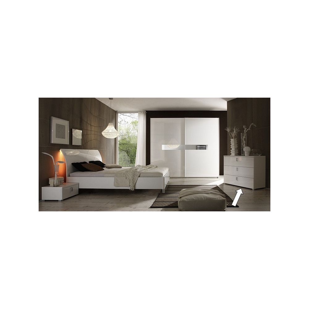 commode 3 tiroirs moderne open. Black Bedroom Furniture Sets. Home Design Ideas