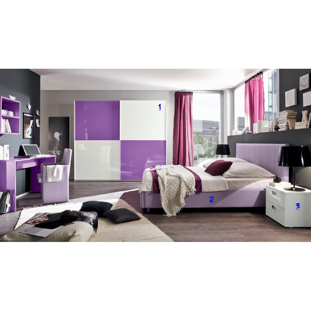 Chambre a coucher compl te moderne prix promo for Chambres completes
